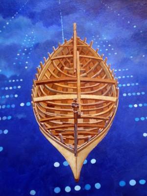 2009, huile sur bois, 80cm x 60cm. Coll part