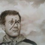 G.Bakunov, encre/papier, 39cm x 23cm.