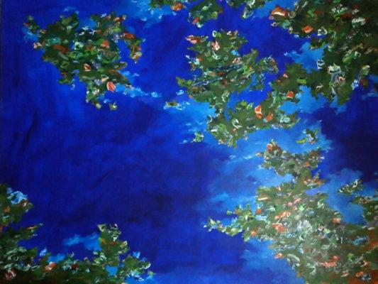 Acrylique sur toile, 210 cm x 160 cm, 2017.