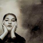 Maria Callas, encre/papier/32cm x18cm.
