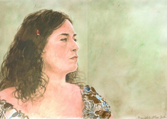 encre et aquarelle sur papier, 42 cm x 21 cm, 2017