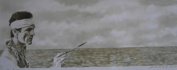 Encre/papier, 12cm x 42cm, 2013, Coll part