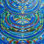 V2 / Acryl sur toile, 130 cm x 96 cm, 2018, Coll part