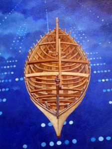 Acrylique sur bois, 80cm x 70cm, 2007, coll part.