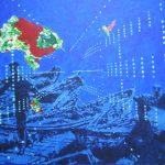 2003 acryl et huile sur bois, 100 cm x 70 cm, coll part