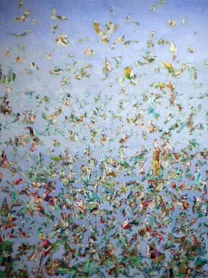 Huile sur toile, 140cm x 120cm, 2009, coll part.