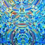 V1 / Acryl sur toile, 180 cm x 120 cm, 2017. Coll Part