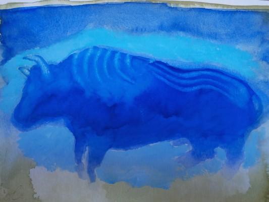 Taureau bleu